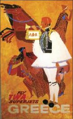 TWA #vintage #posters - #Greece