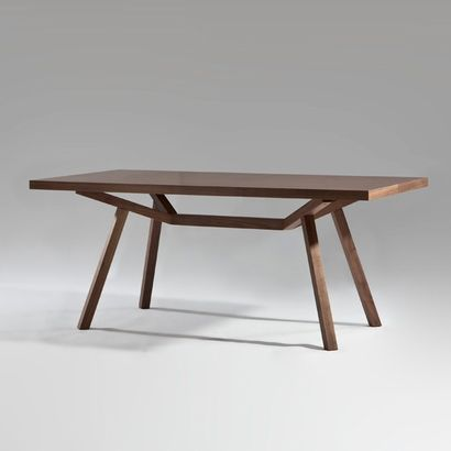Sean Dix Collection Forte Rectangular Dining Table - Wood Top - Click to enlarge small kitchen table