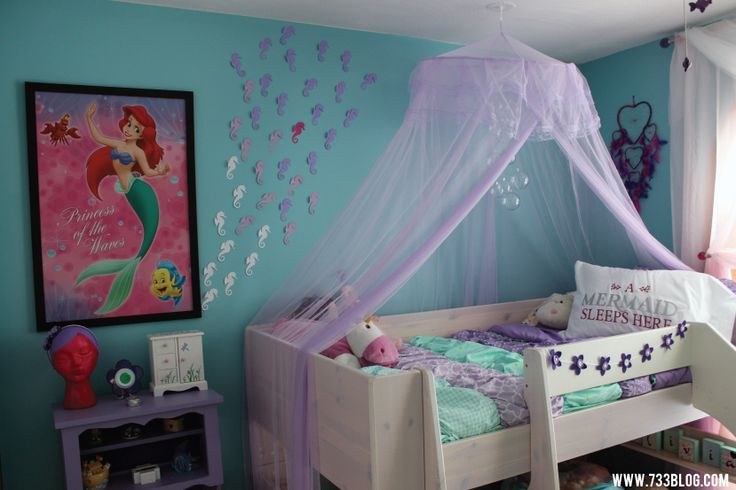 The Little Mermaid Themed Girl's Room