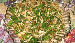 Salade épinards et fèves germées