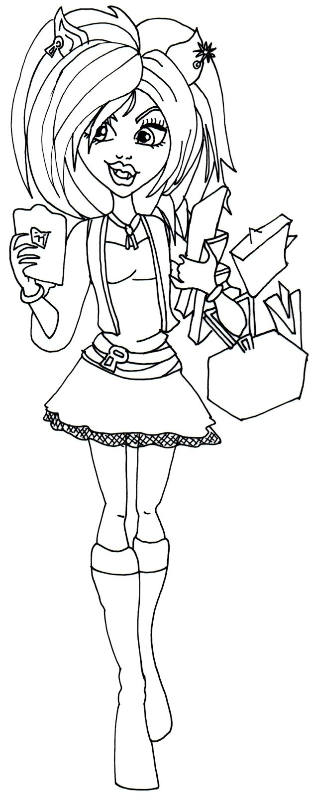 Monster High Clawdeen Wolf Coloring Pages Free Coloring Pages ...