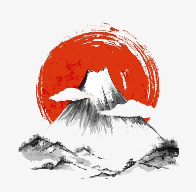 Ink Painting Landscape Painting Sun Japanese Ink Painting Png Transparent Clipart Image And Psd File For Free Download Japanese Ink Painting Japanese Drawings Ink Wash Painting