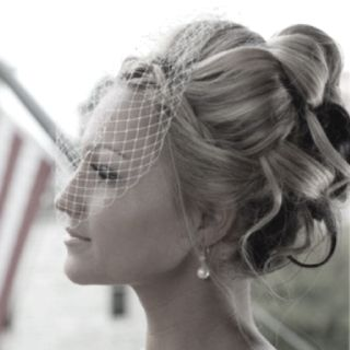 love this updo @Brandy Waterfall Waterfall Waterfall Waterfall Busby Stringer Manor House #BMHbride ; wedding photos ; bridal hair ; bridal updo ; updo ; birdcage veil