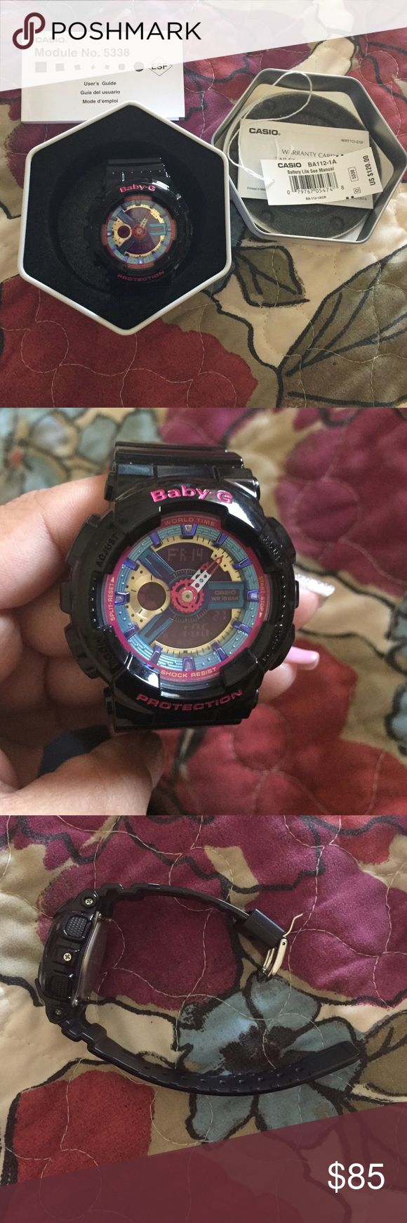 Casio Baby G shock women's watch Casio Baby G shock women's watch. Brand New Never worn. Shock Resistant 100M, Water Resistant, LED-Backlight and lightweight. Casio Accessories Watches