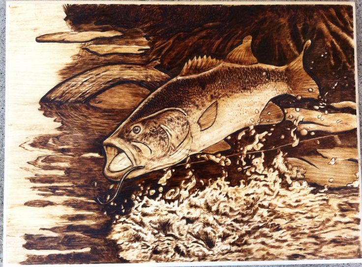 17 Best Images About Pyrography Fishing On Pinterest