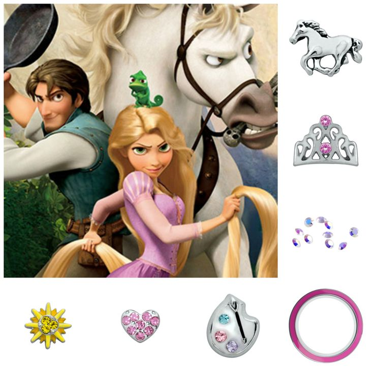 Tangled Disney with Origami Owl.