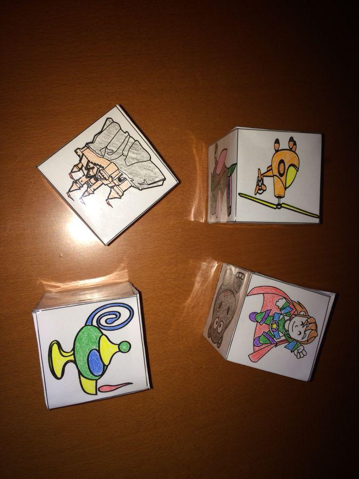 Con los cubos de contar historias de orientacion Andújar tenemos múltiples opciones de fomentar la escritura creativa!!