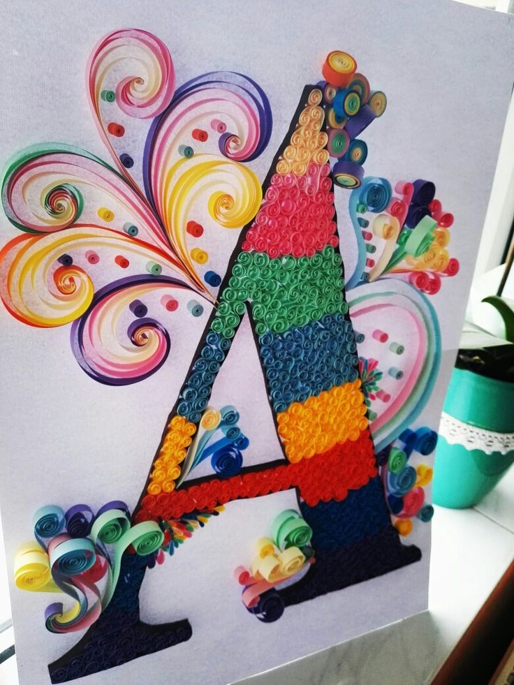 #quillingletter #A #colourfull