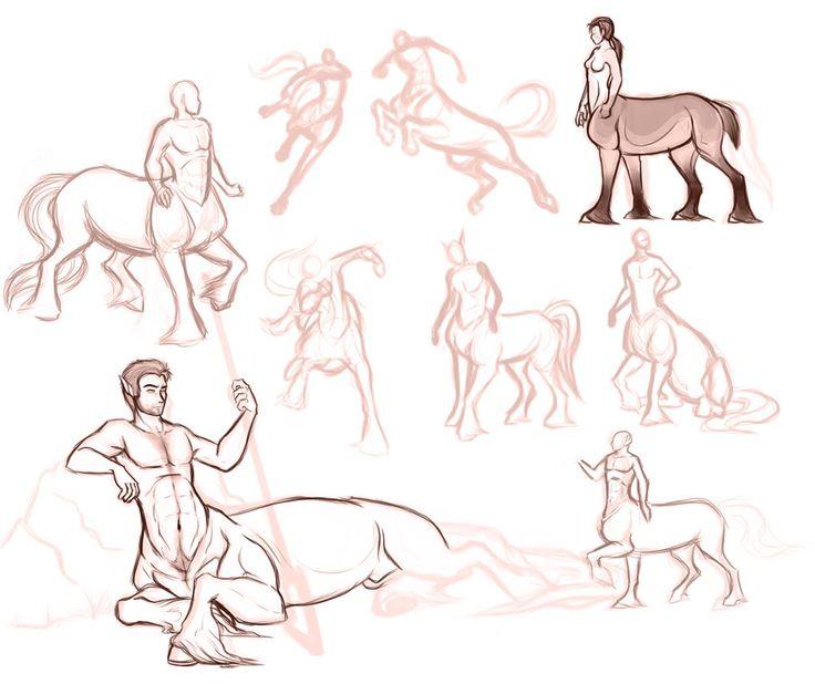 Centaur Sketch Dump by SoldierYena