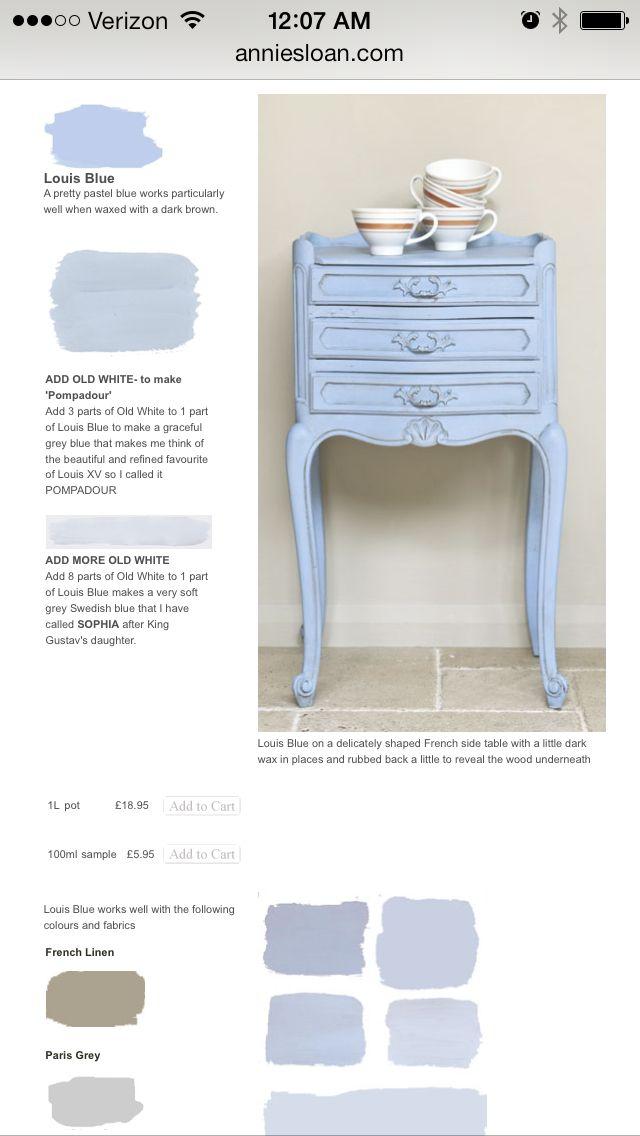 Annie Sloan Louis Blue hues