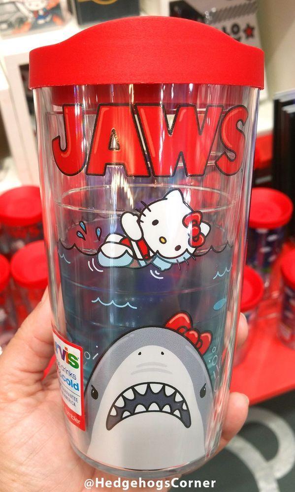 Universal Studios Hello Kitty Jaws Movie Poster Tervis Mug 16oz