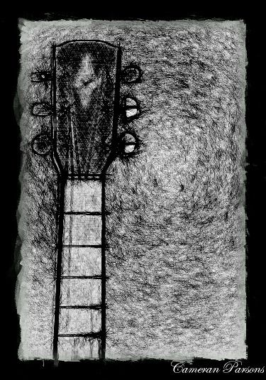 This is not a Guitar it is a drawing of one.