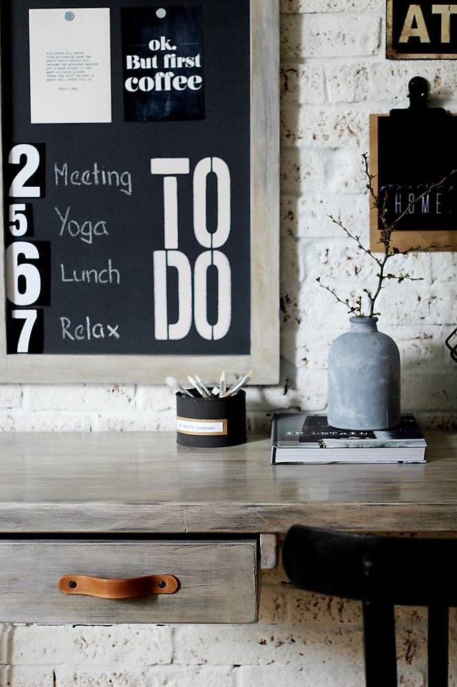 Nábytok - Pracovný stôl INDUSTRY BROWN so šuflíkmi - 6539353_