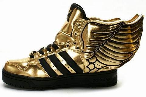 adidas high tops gold
