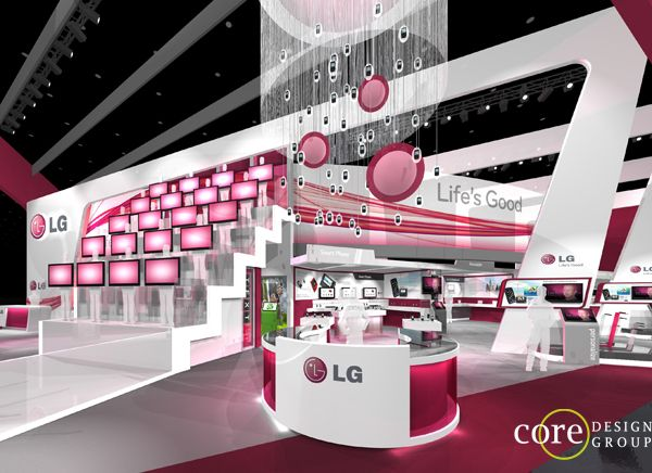 LG CTIA Exhibit Design Concept By Core Group Via Behance