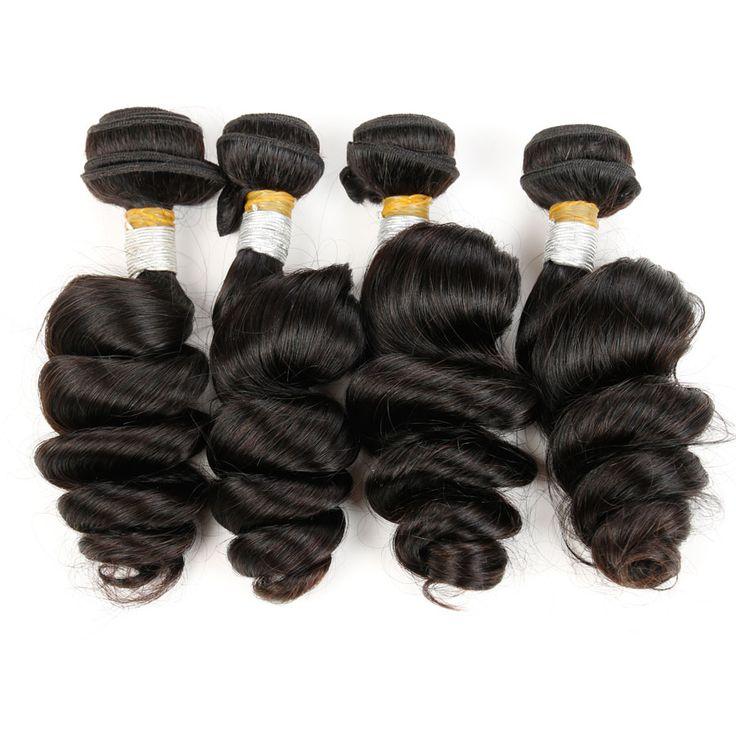 "Malaysian Loose Wave 7A Unprocessed Malaysian Virgin Hair 4 Bundles Rosa Hair Products 8""-26"" Remy Human Hair Weave"
