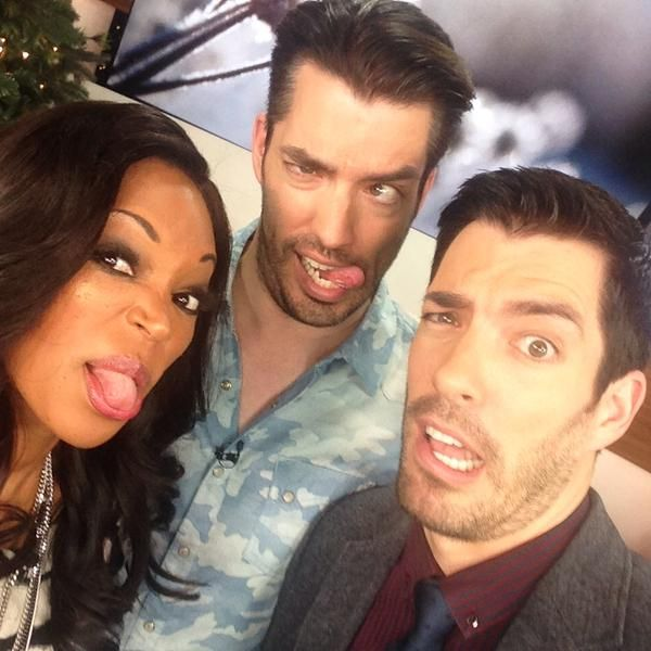 Just goofing off with @mrdrewscott & Tracy Moore on the set of @cityline :)