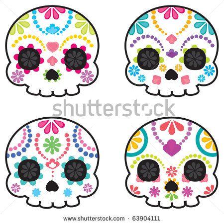 sugar skull simple - Google Search