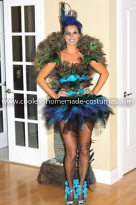 homemade peacock costume well i dont believe there is a more beautiful - Exotic Halloween Costume