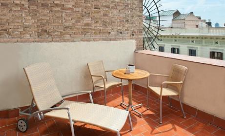 Terrace hotel Catalonia Berna in Barcelona