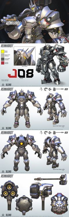 Reinhardt reference guide #ow #overwatch #game #cosplay #costume