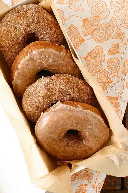 pumpkin doughnuts by annieseats, via Flickr