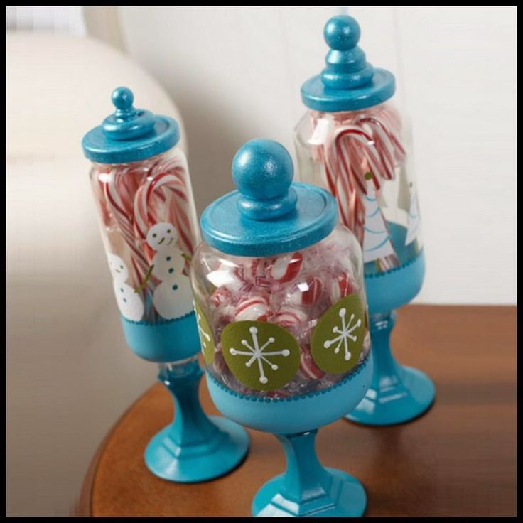 Turn Empty Food Jars And Candle Holders Into Glass Apothecary Candy Jars