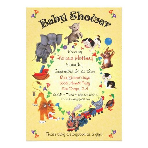 334 best book themed baby shower invitations images on pinterest bring a book baby shower baby animals invitations filmwisefo Gallery
