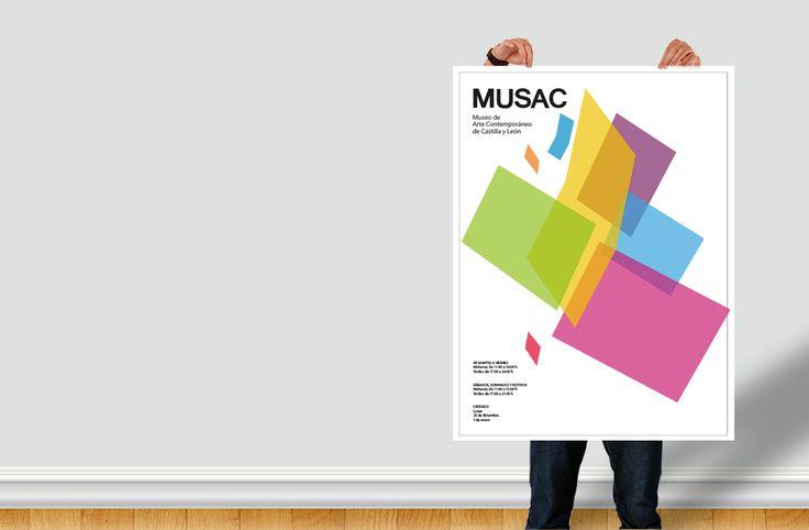 poster realizada para la materia de piezas promocionarles, realizando el grafismo y manejando la identidad ya existente del museo Musac