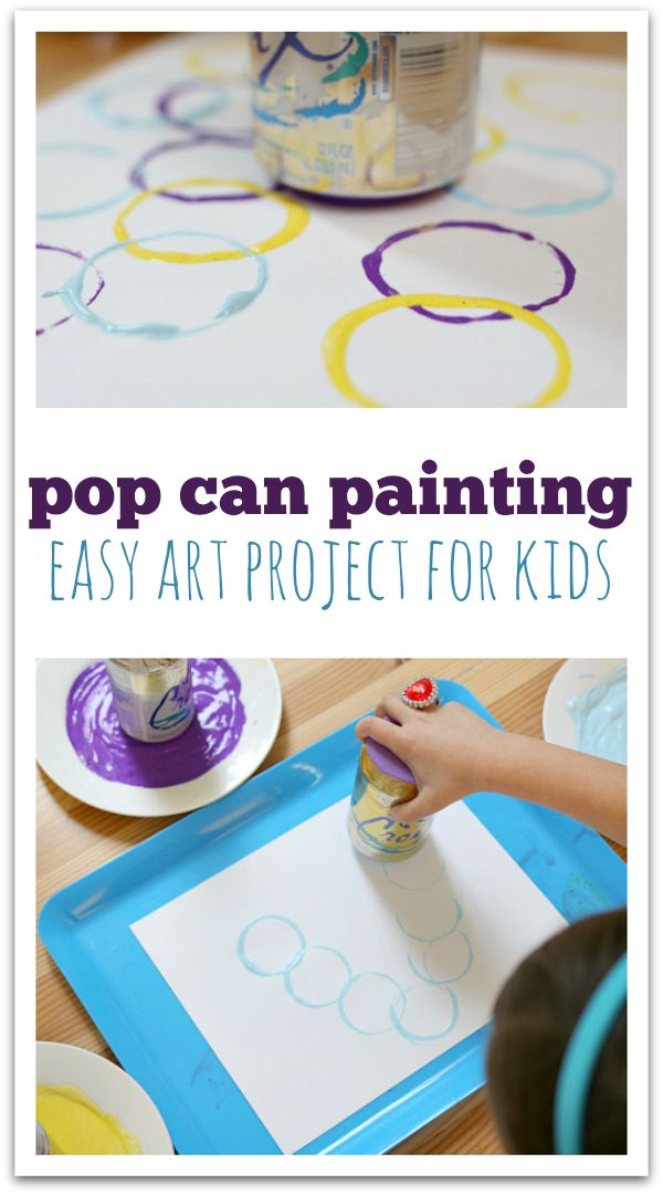 soft drink / fizzy drink / pop can printing - easy art project for kids
