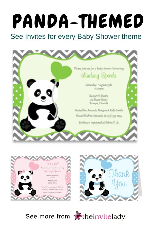 Panda Baby Shower Boy Invitation Pinterest Owl
