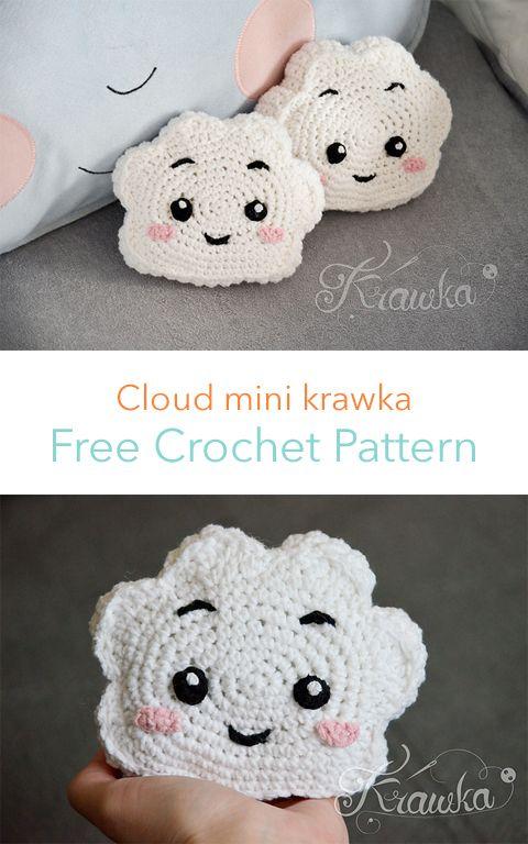 Cloud Mini Krawka Free Crochet Pattern #pillow #crafts #crochet #diy #homedecor …