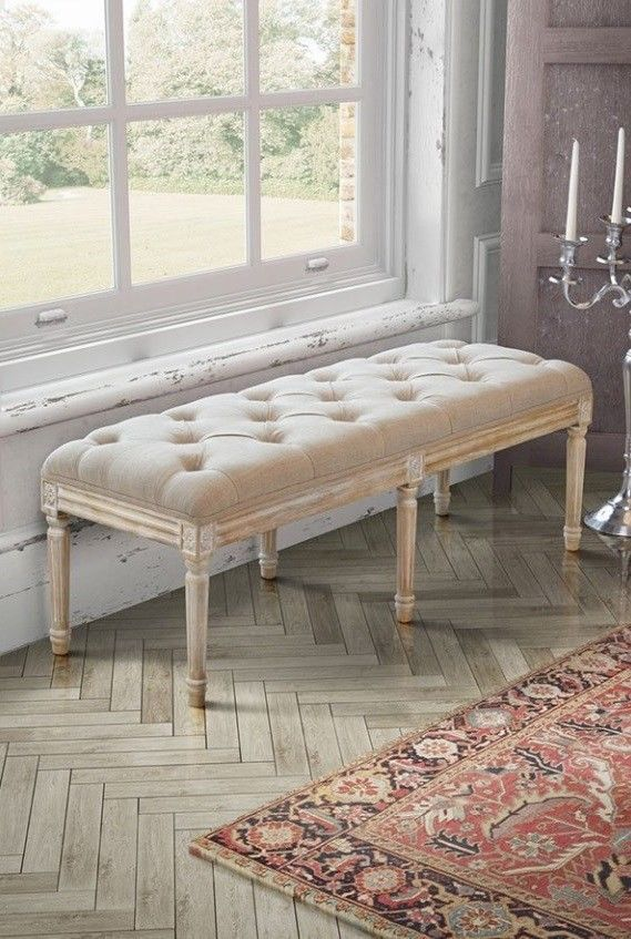 French Style Bench Antique Oak Furniture Bedroom Window Seat Shabby Chic Hallway 8944819739763 Ebay Shabby Chic Hallway Oak Bedroom Furniture Furniture