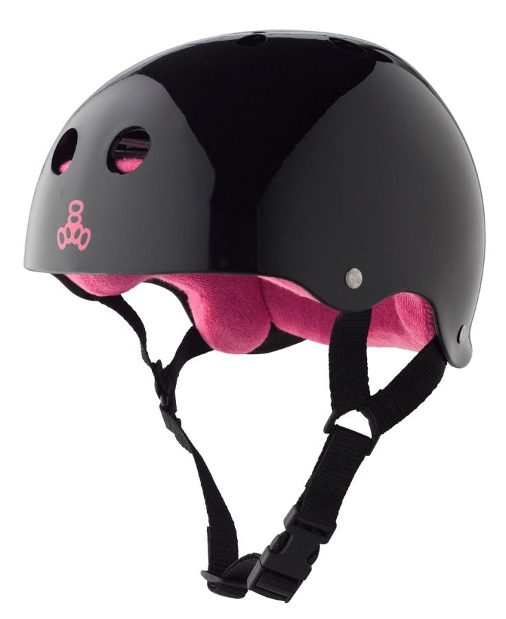 Triple 8 Brainsaver Skate Helmet. The Triple 8 Brainsaver Skate Helmet is a classic among derby girls, with its side cut design, signature rivets and lots of colors to choose from. With multi-impact protection, the Brainsaver helmet is ideal as a skateboard helmet, roller derby helmet, or inline skate helmet (or all three).Triple 8 Brainsaver Skate Helmet Features:Multi-impact protectionThe soft foam inner liner rebounds to its original shape after a low-force impact