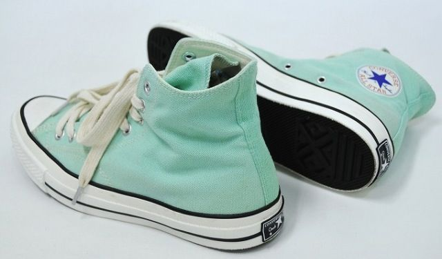 Mint green/ aqua high top Converse