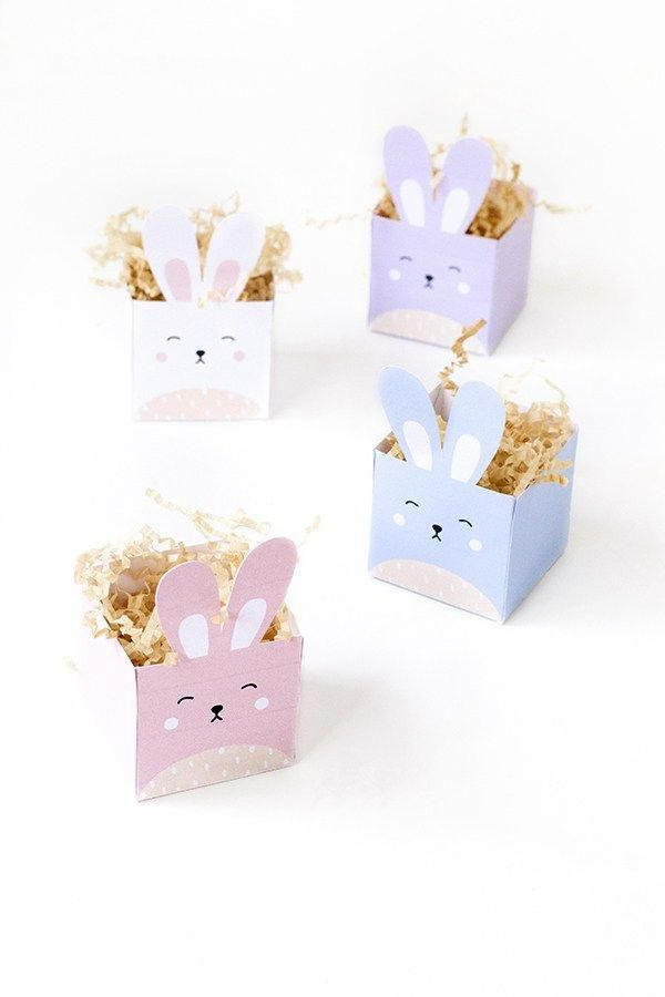 Share Yummy Easter Treats With These Cute Bunny Boxes That You Can Make Yourself Using The Free Printable Template To Them Youll Need Box