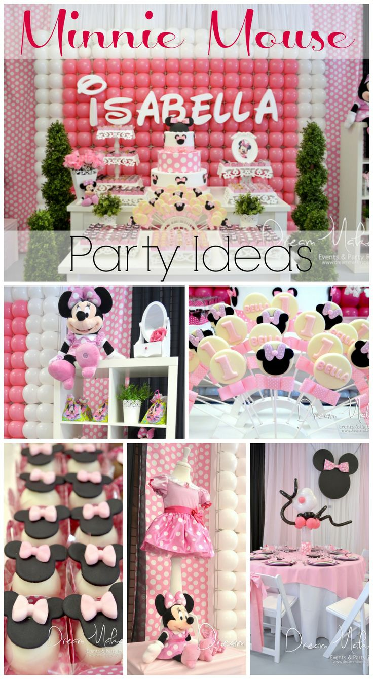 Check out these fantastic Minnie Mouse party ideas, perfect for a girl birthday! See more party ideas at CatchMyParty.com. #minniemouse #birthdayparty