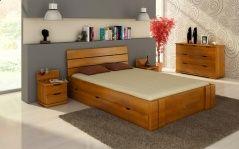 Łóżko sosnowe Visby Arhus High Drawers (z szufladami)
