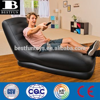 high strength inflatable mega lounger deluxe inflatable air lounge as seen on TV folding inflatable deckchair