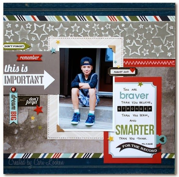 "Me and My Thoughts - I created this layout using Core'dinations Colorcore Cardstock and Simple Stories ""Say Cheese"" and 24/7 collections #coredinations #layouts #scrapbooking"