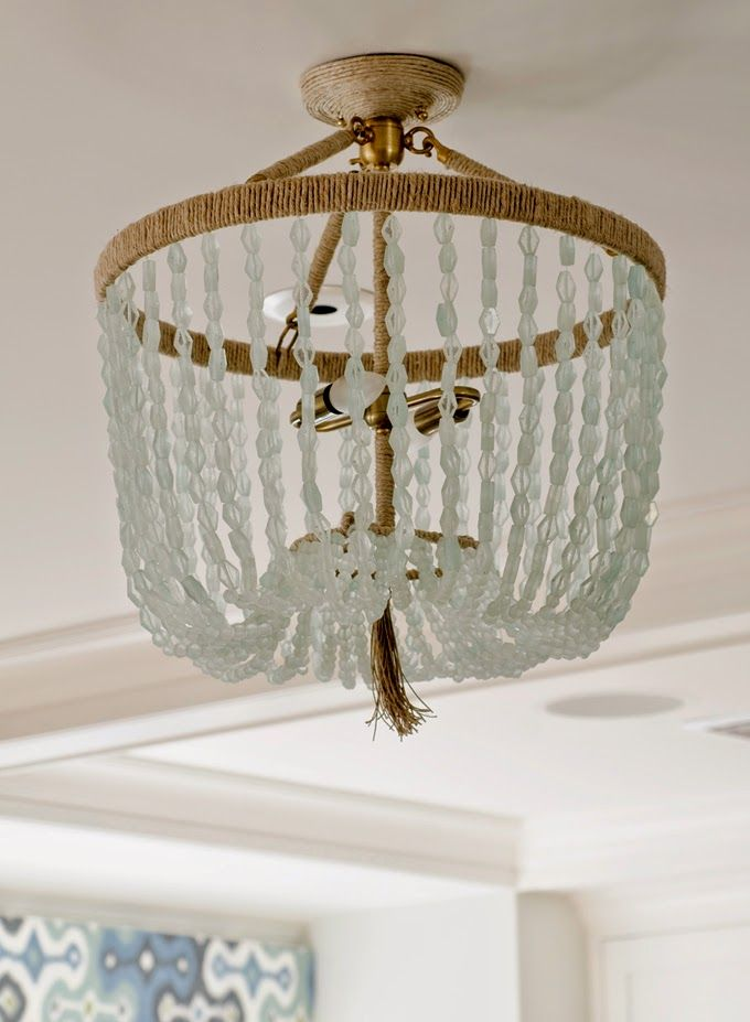 House Of Turquoise Olson Lewis Architects And Kristina Crestin Design Glass Bead Chandelier