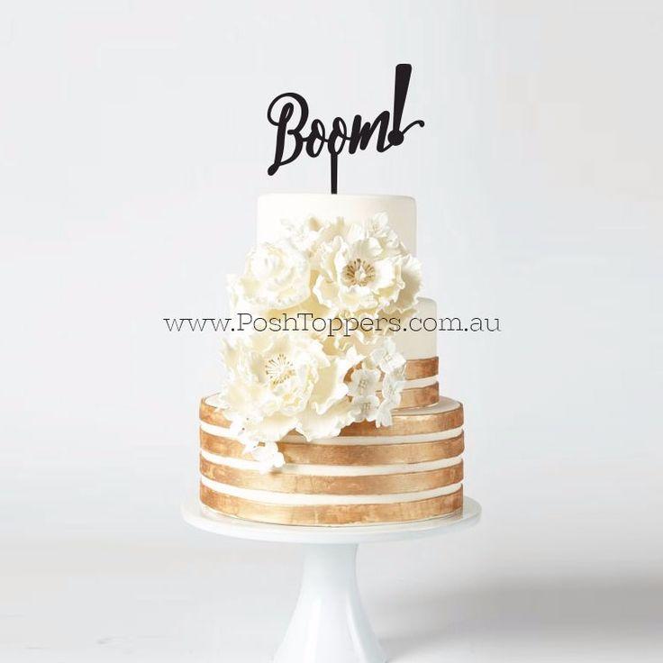 Boom! Statement Cake Topper