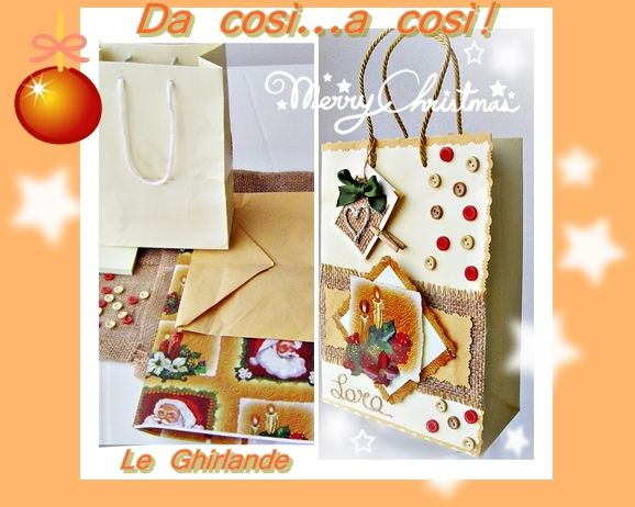 """Le Ghirlande: Serie di """"gift bags recycling"""""""