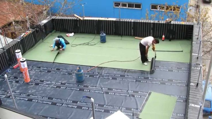 Bauder materials for sealing the new roof top terrace, in multilayer coats.