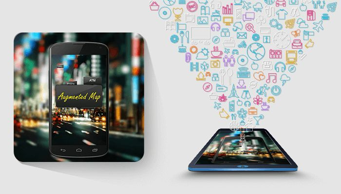 AUGMENTED MAP This application is a Geo Information Application. It helps user to find nearest location like ATMs, banks, Restaurants, gyms, bus stops, cafes, Movie theatres, and Hospitals