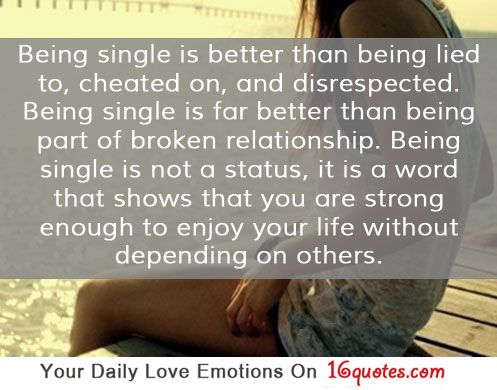 Positive Inspirational Quotes: Being single is better than ...