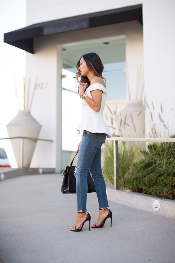 song_of_style_white_bustier_top_ripped_jeans