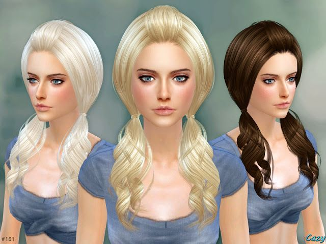 Sims 4 CC's - The Best: Ellie Hairstyle - Set by Cazy