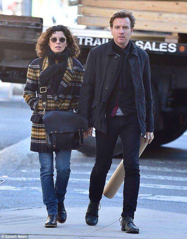 Fame comes knocking again: Ewan McGregor was seen with wife Eve Mavrakis after he said that he is 'up for' filming the Trainspotting sequel, after the film made him famous nearly 20 years ago