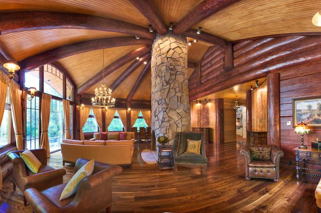 Luxury log cabin homes wsj mansion for Luxury log cabin homes